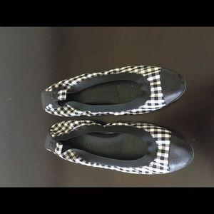 Chanel Gingham Ballet Flats